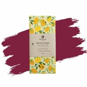 Made by Bees' Handmade Beeswax Wraps – Lemons! Eco-friendly gift.
