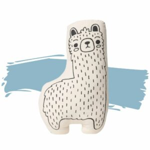 This Llama Pillow is printed on a natural canvas and is great for toddlers