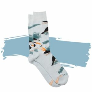 Conscious Step's Organic Cotton Socks That Protect Toucans – Medium. Eco-friendly gift.