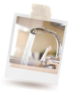 A faucet showing tap water as a sustainable water source