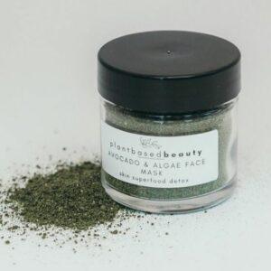 Plant Based Beauty's Avocado & Algae Nourishing Face Mask. Ethical Shopping.