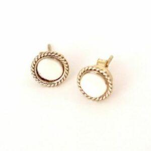 Cedar & Cypress' Boudron Stud Earrings – Bone. Ethical Shopping.