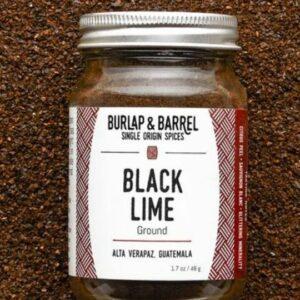 Burlap & Barrel's Ground Black Lime Seasoning. Ethical Shopping.