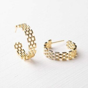 Starfish Project's Laurel Gold Hoops. Ethical shopping.