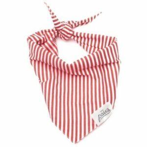 The Paws' Red Stripes Pet Bandana – Large. Ethical Shopping.