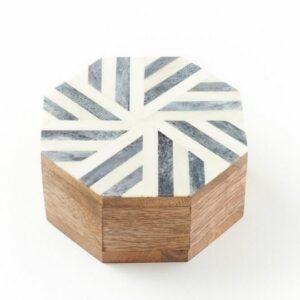 Matr Boomie's Rudra Storm Wooden Keepsake Box. Ethical Shopping.