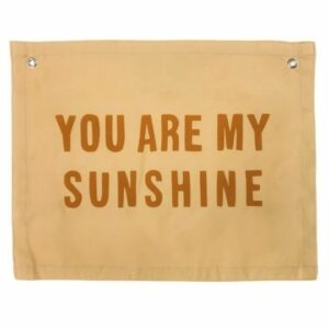 Imani Collective's Sunshine Natural Canvas Banner. Ethical Shopping.