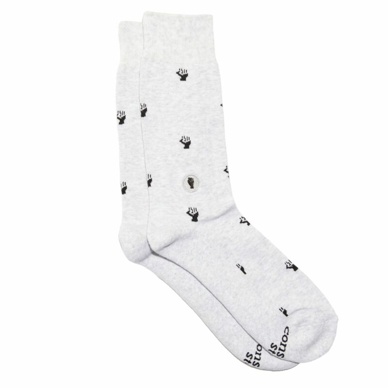 Organic Cotton Socks That Fight for Equality – Grey – Small